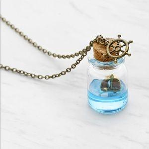 Jewelry - Beachy Sailboat Drift Bottle Charm boho necklace